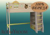 кровать-чердак ВинниПух