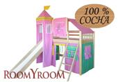 Кровать-домик с горкой 2