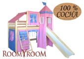 Кровать Розовый замок