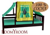 Кровать-домик зеленый