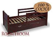 Кровать с бортиками и ящиками