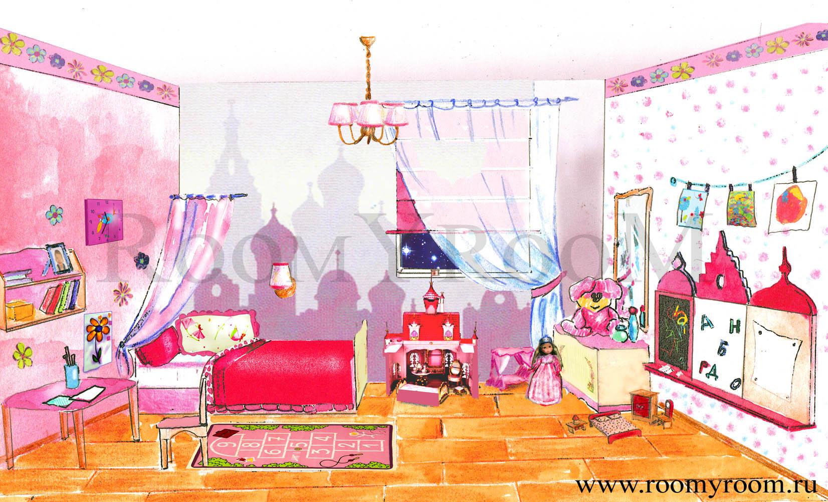 Дизайн детской дизайн для девочек