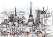 Париж 2700x1500 мм